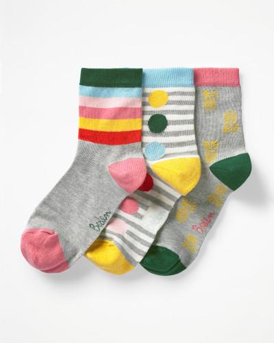 Socken im 3er-Pack Yellow Damen