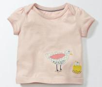 T-Shirt mit Tiermotiven Pink Baby Boden
