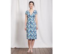 Sommerliches Wickelkleid Blau Damen