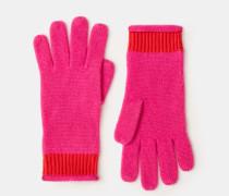 Kaschmir-Handschuhe Pink Damen
