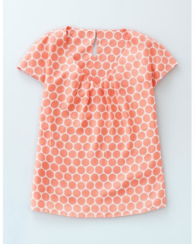 boden damen sommerliches apricot mit schlichten tupfen ravello oberteil mit v ausschnitt reduziert. Black Bedroom Furniture Sets. Home Design Ideas