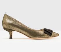 Adelaide Schuhe mit Pfennigabsatz Gold Damen
