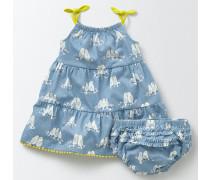 Sommerliches Lagenkleid aus Jersey Blau Baby Boden