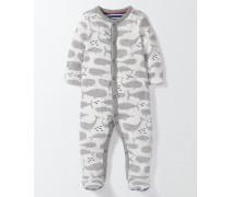 Superweicher Schlafanzug mit Walmotiv Grau Baby Boden