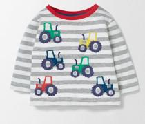 Fröhlich gestreiftes T-Shirt Grau Baby Boden