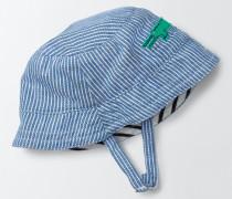 Gewebte Mütze mit Applikation Blau Baby Boden
