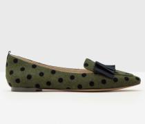 Flache Geraldine Schuhe Grün Damen