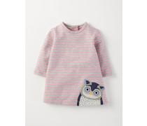Gemütliches Kleid mit Applikationen Pink Baby Boden