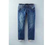 Mittlerer Used Look Schmale Jeans