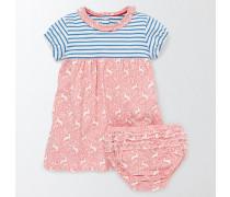 Jerseykleid mit Mustermix Pink Baby Boden