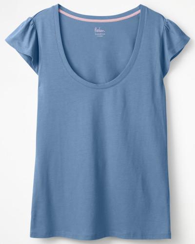 Superweiches Flatter-T-Shirt Blue Damen