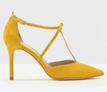 Jennifer Pumps mit T-Steg Yellow Damen