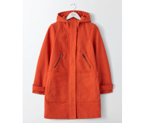 Moleskin-Dufflecoat Orange Damen
