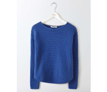 Sera Pullover mit U-Boot-Ausschnitt Blau Damen