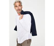 Popeline-Hemd in schmaler Passform White Herren