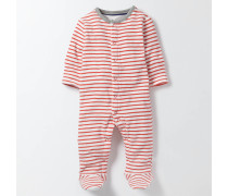 Gestreifter Schlafanzug aus Frottee Rot Baby Boden