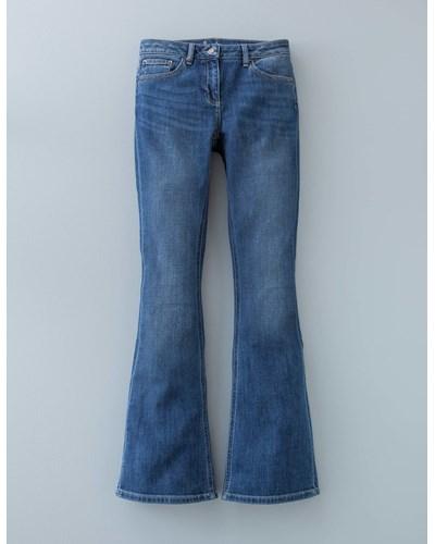 boden damen vintage schmal geschnittene jeans mit schlag reduziert. Black Bedroom Furniture Sets. Home Design Ideas