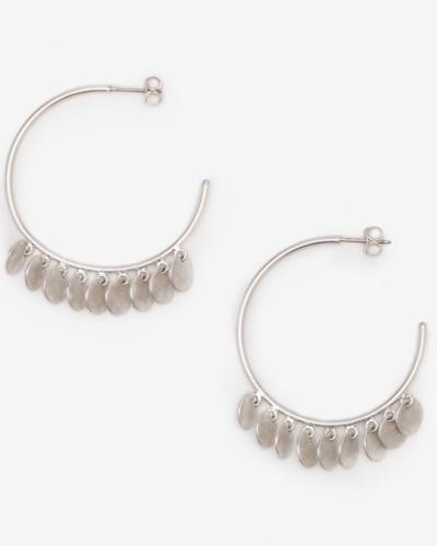 Creolen mit zierlichen Scheiben Silver Damen