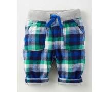 Hose mit Rippstrickbund Blau Baby Boden