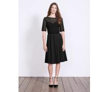 Lisa Kleid aus Ponte-Roma-Jersey Schwarz Damen