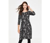 Winifred Jersey-Jacquard-Kleid Black Damen