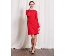 Jacquardkleid im Sechziger-Stil Rot Damen Boden