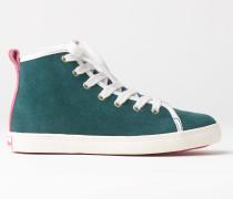 Hohe Sneakers aus Veloursleder Gr�n Mädchen Boden