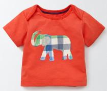 T-Shirt mit Dschungeltieren Rot Baby Boden