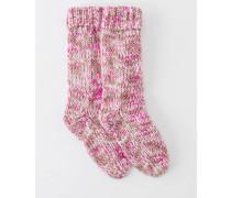 Grobstricksocken Pink Damen Boden