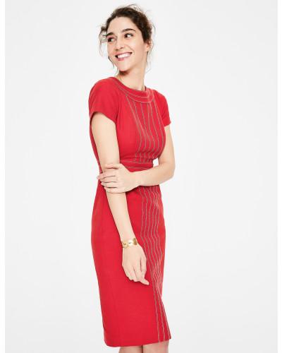 Kitty Strukturiertes Kleid Red Damen