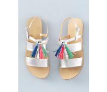 Sandalen mit Quasten Silber Mädchen