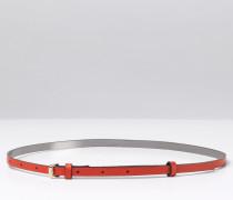 Schmaler Taillengürtel Rot Damen Boden