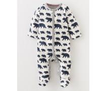 Superweicher Babyschlafanzug Dunkelblau Baby Boden