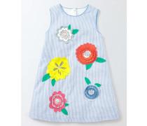 Fröhliches gewebtes Kleid Gestreift Mädchen