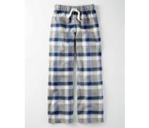 Gebürstete Pyjamahose Blau Jungen