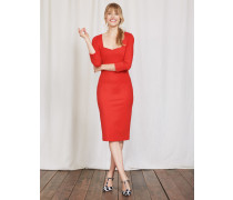 Rebecca Kleid aus Ponte-Roma-Jersey Rot Damen