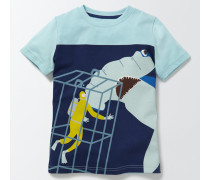 T-Shirt mit Unterwasserlogo Hellblau Jungen