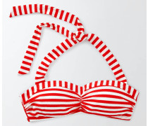 Rimini Bikinioberteil mit Streifen Rot Damen