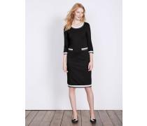 Gloria Kleid aus Ponte-Roma-Jersey Black Damen