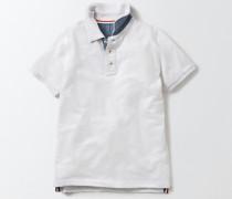 Poloshirt aus Piqué Weiß Jungen