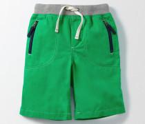 Abenteuer-Shorts Grün Jungen