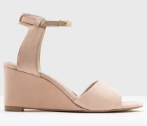 Demi Schuhe mit Keilabsatz in Rubinrot NEU Damen