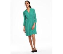 Strukturiertes Seidenkleid Grün Damen