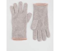 Kaschmir-Handschuhe Hellgrau Damen Boden