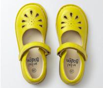 Spangenschuhe aus Leder Gelb Mädchen