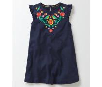 Sommerliches Kleid mit Applikation Dunkelblau Mädchen