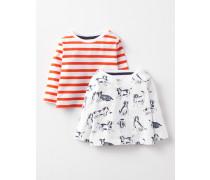 T-Shirts im 2er-Pack Cremefarben Baby Boden