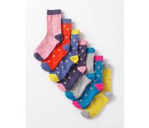 7er-Pack Socken Gepunktet Mädchen