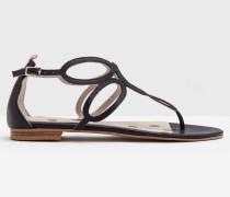 Sandalen mit Kreisdesign Navy Damen
