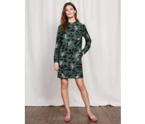 Hochgeschlossenes Kleid Grün Damen